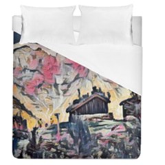 Modern Abstract Painting Duvet Cover (queen Size) by 8fugoso