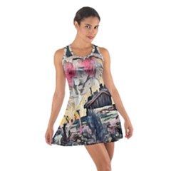 Modern Abstract Painting Cotton Racerback Dress by 8fugoso