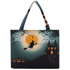 Halloween Landscape Mini Tote Bag by Valentinaart