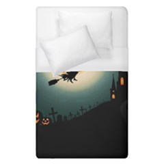 Halloween Landscape Duvet Cover (single Size) by Valentinaart