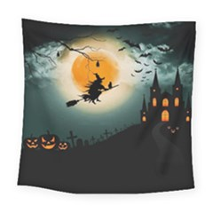 Halloween Landscape Square Tapestry (large) by Valentinaart