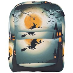 Halloween Landscape Full Print Backpack by Valentinaart