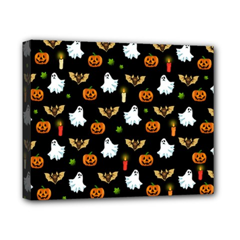 Halloween Pattern Canvas 10  X 8  by Valentinaart