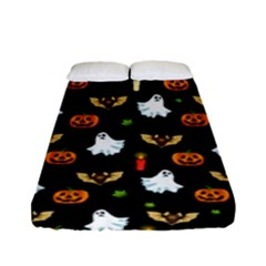 Halloween Pattern Fitted Sheet (full/ Double Size) by Valentinaart
