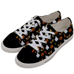 Halloween Pattern Women s Low Top Canvas Sneakers by Valentinaart