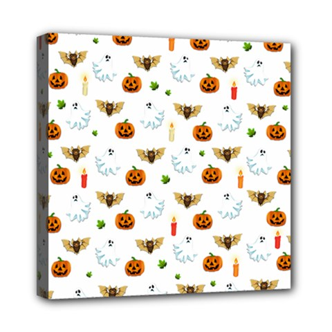 Halloween Pattern Mini Canvas 8  X 8  by Valentinaart