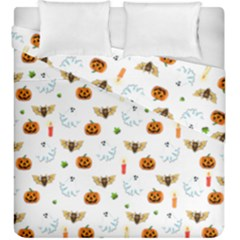 Halloween Pattern Duvet Cover Double Side (king Size)