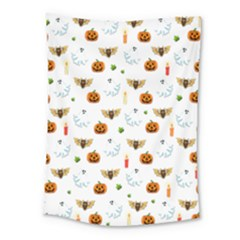 Halloween Pattern Medium Tapestry by Valentinaart