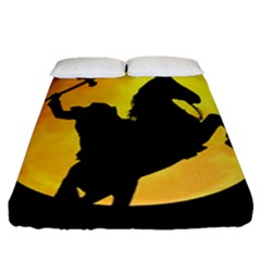Headless Horseman Fitted Sheet (queen Size) by Valentinaart