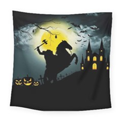 Headless Horseman Square Tapestry (large) by Valentinaart