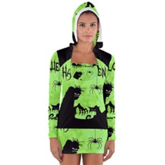 Halloween Long Sleeve Hooded T Shirt