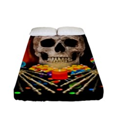 Halloween Candy Keeper Fitted Sheet (full/ Double Size) by Valentinaart