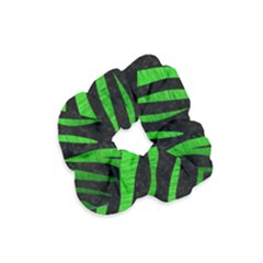 Skin3 Black Marble & Green Brushed Metal Velvet Scrunchie by trendistuff