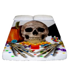 Halloween Candy Keeper Fitted Sheet (queen Size)