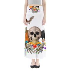 Halloween Candy Keeper Full Length Maxi Skirt