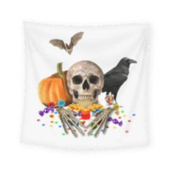 Halloween Candy Keeper Square Tapestry (small) by Valentinaart