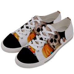 Halloween Candy Keeper Women s Low Top Canvas Sneakers by Valentinaart