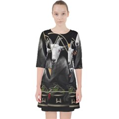 Spiritual Goat Pocket Dress by Valentinaart