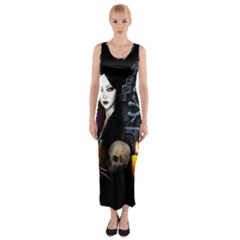 Vampires Night  Fitted Maxi Dress