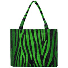 Skin4 Black Marble & Green Brushed Metal (r) Mini Tote Bag by trendistuff