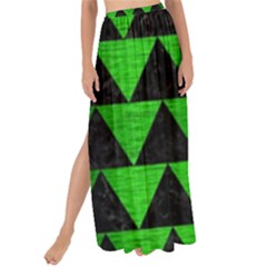 Triangle2 Black Marble & Green Brushed Metal Maxi Chiffon Tie Up Sarong