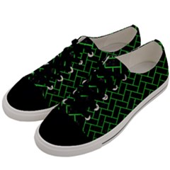 Brick2 Black Marble & Green Colored Pencil Men s Low Top Canvas Sneakers by trendistuff