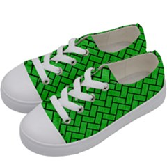 Brick2 Black Marble & Green Colored Pencil (r) Kids  Low Top Canvas Sneakers by trendistuff