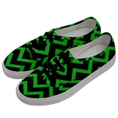 Chevron9 Black Marble & Green Colored Pencil Men s Classic Low Top Sneakers by trendistuff