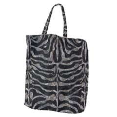 Skin2 Black Marble & Gray Stone Giant Grocery Zipper Tote