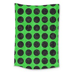Circles1 Black Marble & Green Colored Pencil (r) Large Tapestry by trendistuff