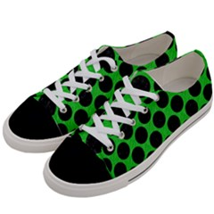 Circles2 Black Marble & Green Colored Pencil (r) Women s Low Top Canvas Sneakers by trendistuff