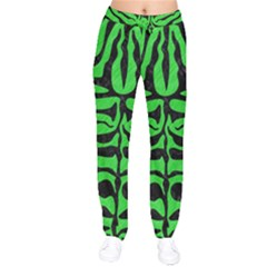 Skin2 Black Marble & Green Colored Pencil (r) Drawstring Pants