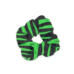 Skin3 Black Marble & Green Colored Pencil Velvet Scrunchie by trendistuff