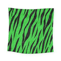 Skin3 Black Marble & Green Colored Pencil (r) Square Tapestry (small) by trendistuff