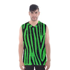 Skin4 Black Marble & Green Colored Pencil Men s Basketball Tank Top by trendistuff