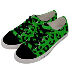 Skin5 Black Marble & Green Colored Pencil Men s Low Top Canvas Sneakers by trendistuff
