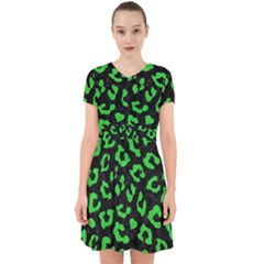 Skin5 Black Marble & Green Colored Pencil (r) Adorable In Chiffon Dress