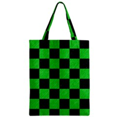 Square1 Black Marble & Green Colored Pencil Zipper Classic Tote Bag by trendistuff