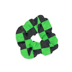 Square1 Black Marble & Green Colored Pencil Velvet Scrunchie by trendistuff