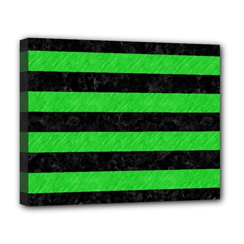 Stripes2 Black Marble & Green Colored Pencil Deluxe Canvas 20  X 16   by trendistuff