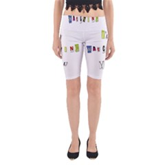I Am Watching You Yoga Cropped Leggings