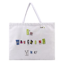 I Am Watching You Zipper Large Tote Bag