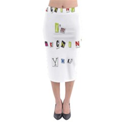 I Am Watching You Midi Pencil Skirt