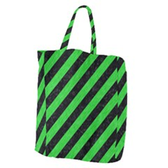 Stripes3 Black Marble & Green Colored Pencil Giant Grocery Zipper Tote by trendistuff