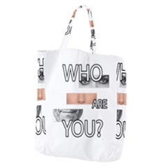 Who Are You Giant Grocery Zipper Tote