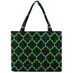 Tile1 Black Marble & Green Colored Pencil Mini Tote Bag by trendistuff
