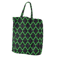 Tile1 Black Marble & Green Colored Pencil Giant Grocery Zipper Tote by trendistuff