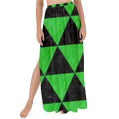 Triangle3 Black Marble & Green Colored Pencil Maxi Chiffon Tie Up Sarong by trendistuff