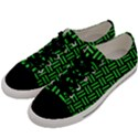 WOVEN1 BLACK MARBLE & GREEN COLORED PENCIL Men s Low Top Canvas Sneakers View2