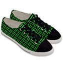WOVEN1 BLACK MARBLE & GREEN COLORED PENCIL Men s Low Top Canvas Sneakers View3